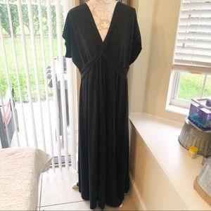 Lands End | Black Maxi Dress Size 1X